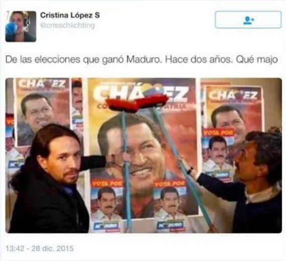 Una locutora de la Cope hace el ridículo al atacar a Pablo Iglesias con esta