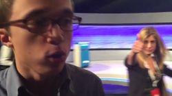 Los gestos de la mujer de Pedro Sánchez mientras entrevistan a