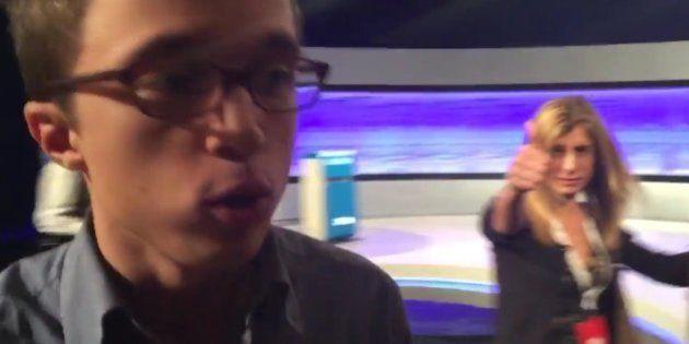 Los gestos de la mujer de Pedro Sánchez mientras entrevistan a Íñigo