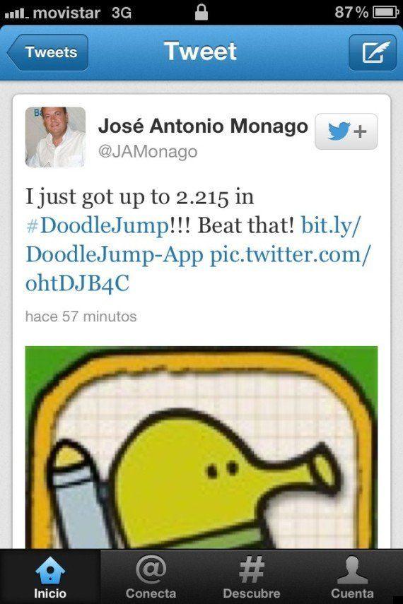 José Antonio Monago se marca un 'Báñez' y cancela su cuenta en Twitter
