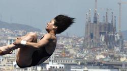 19 fotos de saltos de trampolín con la Sagrada Familia de fondo