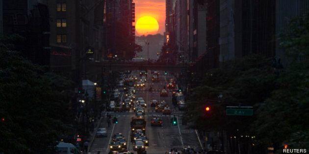 Fotos 'Manhattanhenge': fascinante alineación solar con las calles de