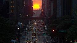 Manhattanhenge: fascinante alineación solar con las calles de