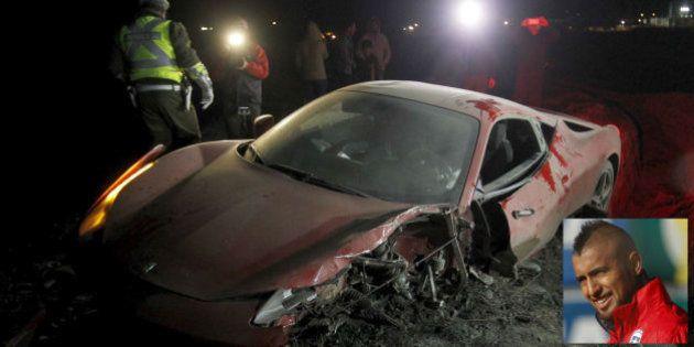 Accidente de Vidal tras conducir