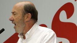 Rubalcaba defiende en Cataluña una reforma federal de la