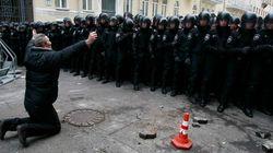 Tensión en Ucrania en el desafío de los proeuropeos al