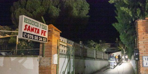 Mueren ocho personas por un incendio en una residencia de ancianos en Cuarte de Huerva