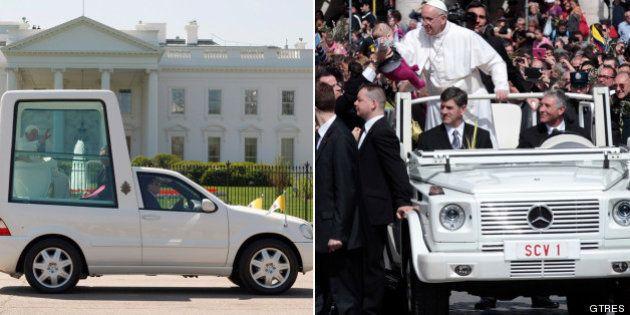 El papa Francisco cambia su papamóvil por un jeep descapotable en su visita a