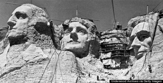 Fotos vintage: monumentos de Estados Unidos en blanco y negro durante su construcción
