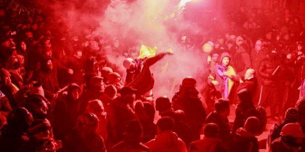 Huelga general contra el Gobierno de Viktor Yanukovich en