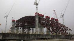El sarcófago de Chernóbil toma forma