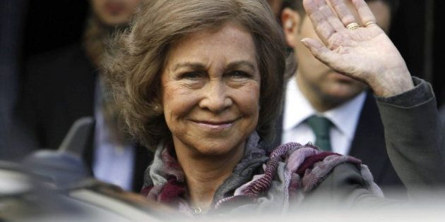 La reina Sofía visita al rey: