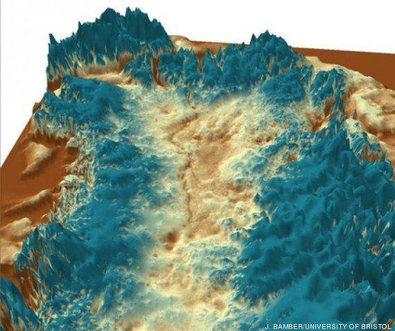 Un inmenso cañón bajo la capa de hielo de Groenlandia, descubierto (FOTO,