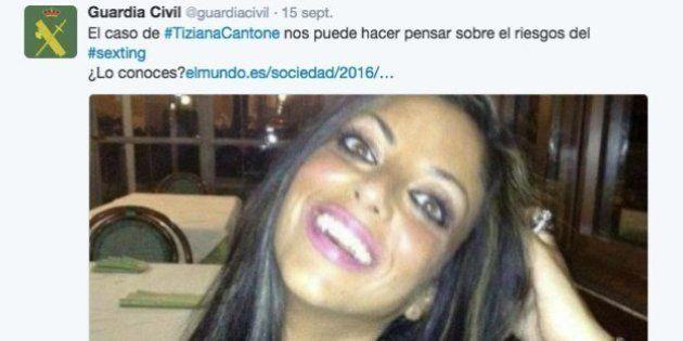 La Guardia Civil escribe un tuit sobre el suicidio de Tiziana Cantone y tiene que