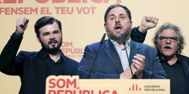 El voto independentista catalán encoge y vira a la izquierda el 20-D