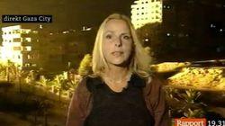 Una periodista sueca, sorprendida por un misil israelí mientras informa sobre