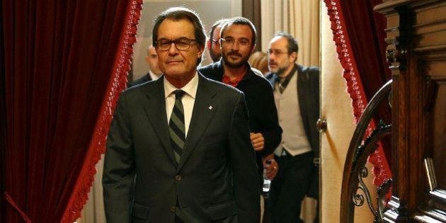 El Parlament de Cataluña rechaza la investidura de Mas gracias al 'no' de la