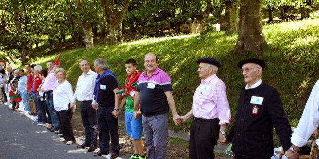 Cadena humana de 123 kilómetros por el derecho a decidir en el País