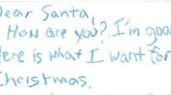 La mejor carta a Papá Noel que vas a ver hoy