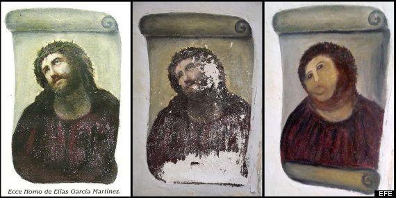Cristo de Borja: restauración profesional para intentar arreglar el destrozo en la pintura (FOTOS, TUITS,