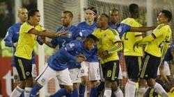 La trifulca que terminó con Neymar y Bacca