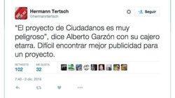 La respuesta de Alberto Garzón a este tuit provoca la ira de