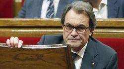 El Parlament rechaza investir a Mas