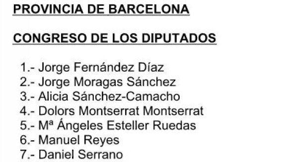 Santamaría, Tejerina y Montoro arropan a Rajoy en la lista del PP por