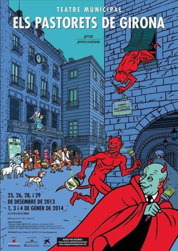NNGG de Girona se 'pican' por este cartel en el que aparece Wert vestido como un diablo