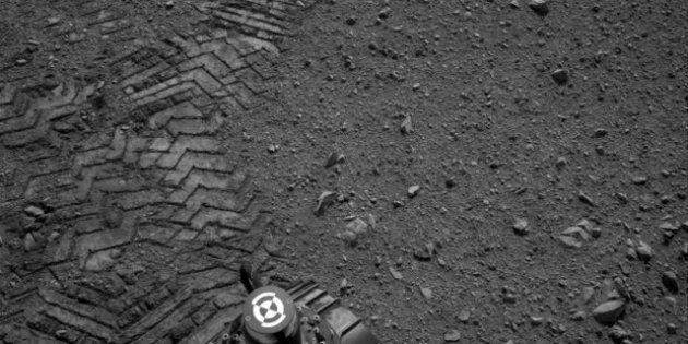 Primer paseo espacial de Curiosity por la superficie de