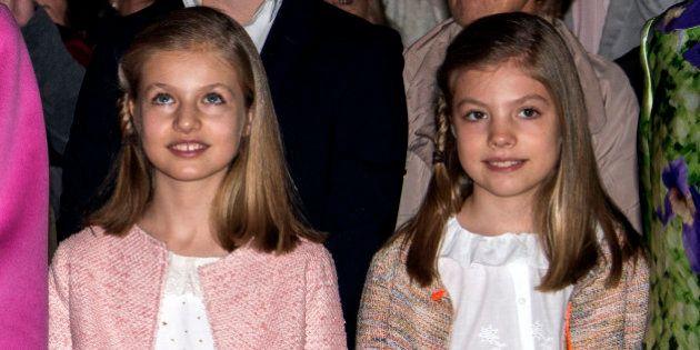Las dos Españas, resumidas en los abrigos de las infantas para el desfile de la Fiesta