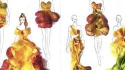 Vestidos hechos de pétalos de flores que dan ganas de ponerse