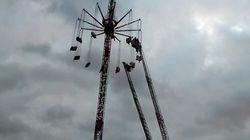 Miedo: Atrapados a 40 metros de altura en una atracción de