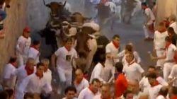 Séptimo encierro de San Fermín 2015: dos heridos en el encierro más