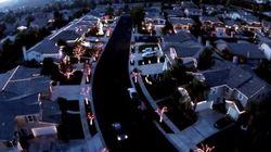 Asombroso show sincronizado de música y luces navideñas en este barrio