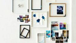 Siéntete el artista de tu casa: 33 ideas para enmarcar
