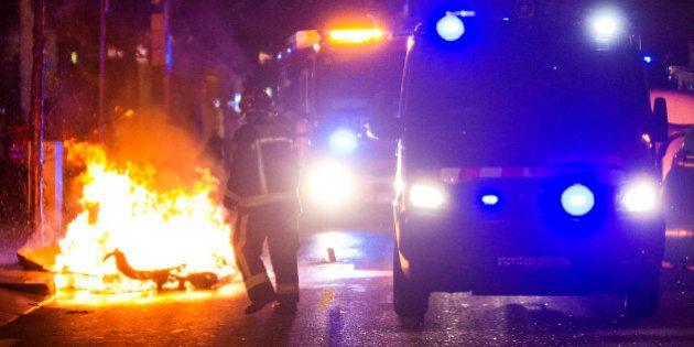 Un detenido y seis heridos en la tercera noche de disturbios en