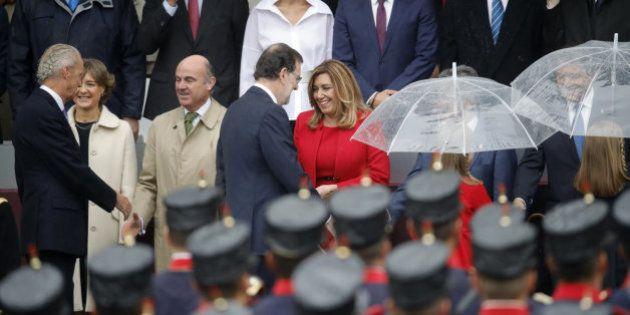 La miradita de Rajoy y Díaz que está dando que