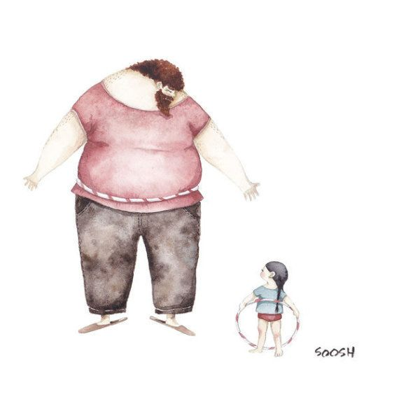 Estas ilustraciones plasman la relación que le gustaría haber tenido a la autora con su