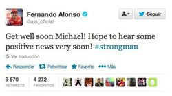 Los mensajes de apoyo del mundo del deporte a Schumacher