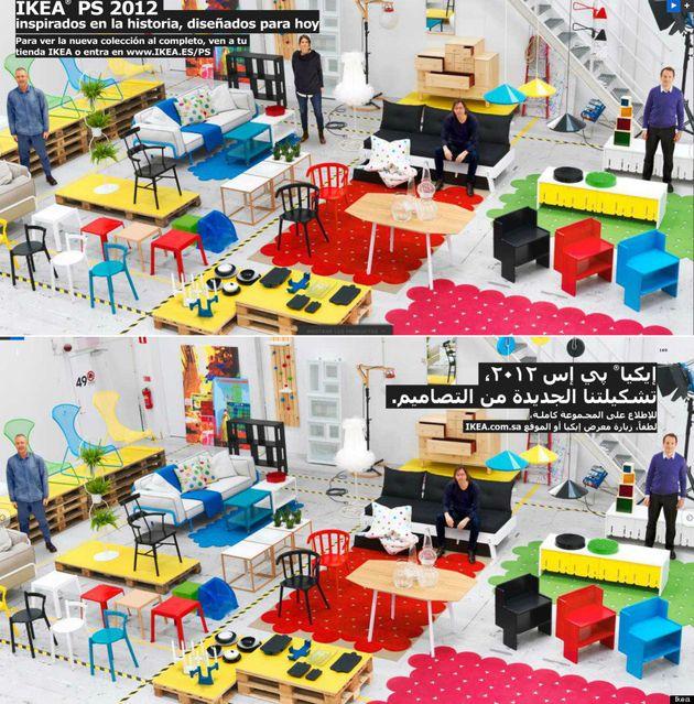 Mujeres eliminadas en el catálogo Ikea 2013 en Arabia Saudí: la empresa pide perdón