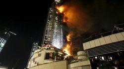 Un enorme incendio se desata en un hotel de Dubai antes de celebraciones de Año
