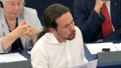 Así ha sido el agitado debut de Iglesias en la Eurocámara