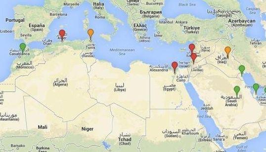 Los países árabes, ¿a favor o en contra de la intervención en