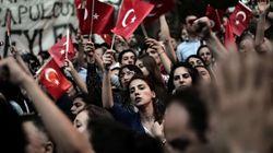 Una manifestante turca: