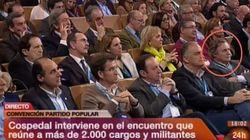 El marido de Cospedal, en primera fila de la Convención del