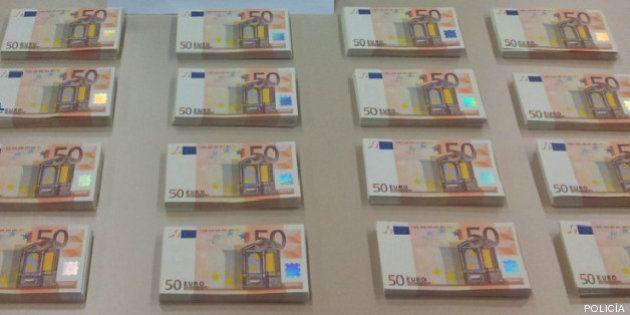 La Policía detiene a once personas por falsificar billetes de 50