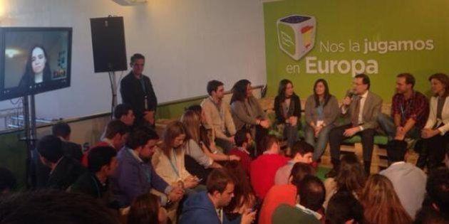 Rajoy a una estudiante de Erasmus: