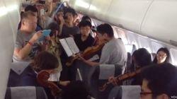 La Filarmónica de Filadelfia da un concierto... en un avión