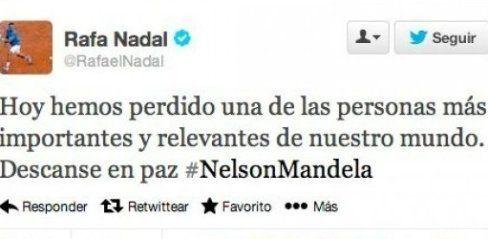 Nadal 'mata' a Nelson Mandela en
